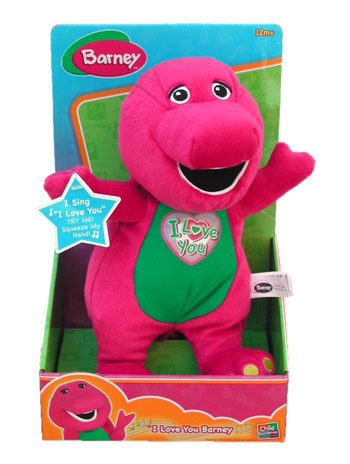 "Singing ""I Love You"" song Barney Plush 